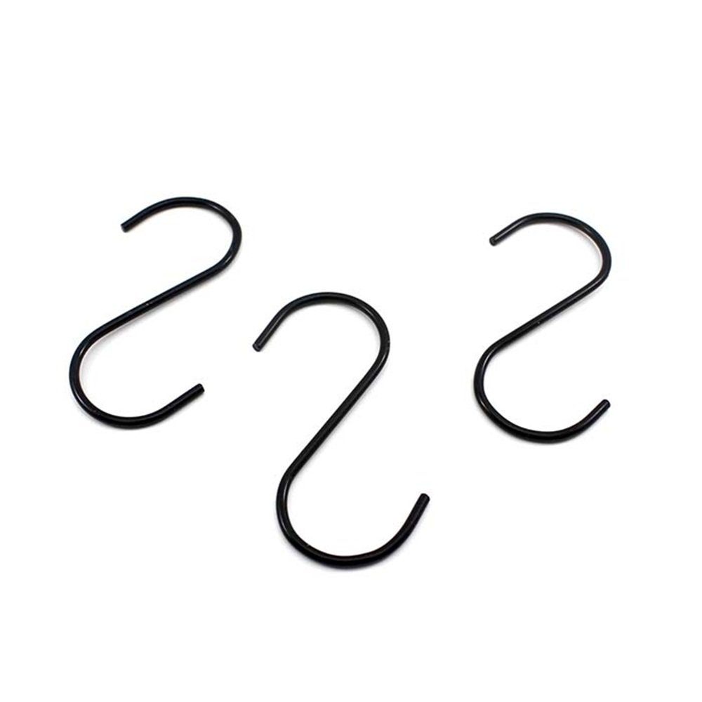 3cm S-Haken Edelstahl K/üchenhaken Garderobenhaken S f/örmigen Haken Rostfrei Kleiderhaken T/ürhaken Schwarz Edelstahlhaken H/ängehaken f/ür L/öffel Pfannen T/öpfe Taschen Handt/ücher 8.9 9