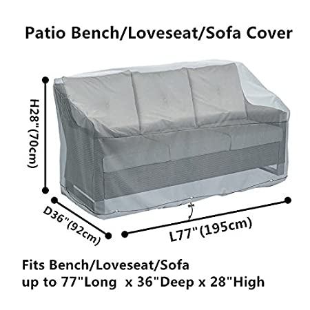 Amazoncom Patio Benchloveseatsofa Covers Waterproof Durable