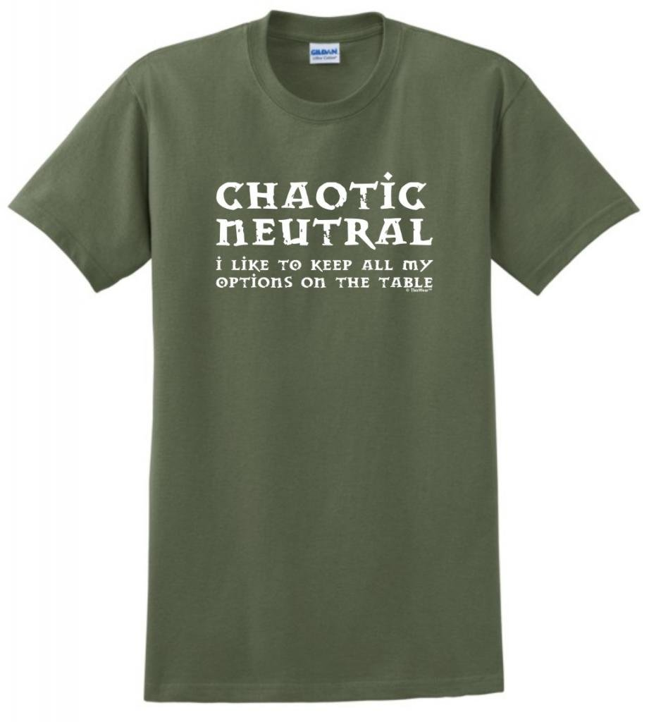 Chaotic Neutral Alignment T-Shirt Medium Military Green