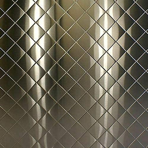 "24 ga. .024/"" x 12/"" x 12/"" Backsplash 304 Quilted Brushed Stainless Steel Sheet"