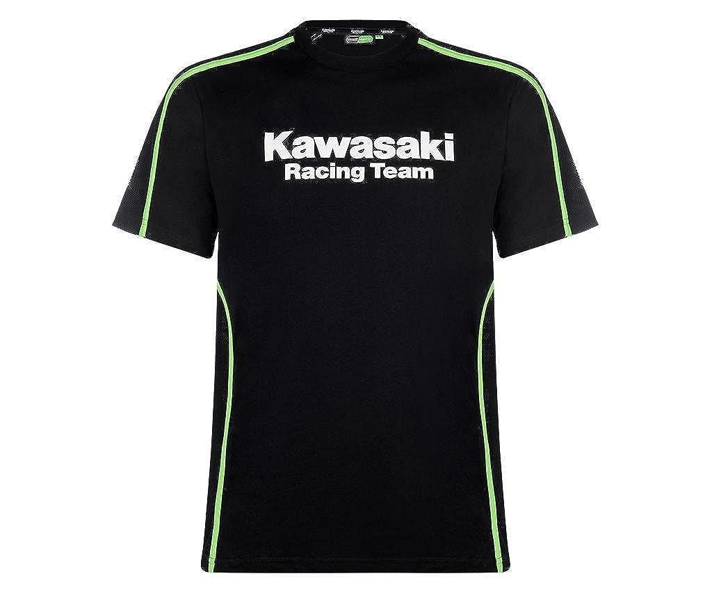 Kawasaki - Camiseta - para Hombre Negro Schwarz Grün: Amazon.es: Ropa y accesorios
