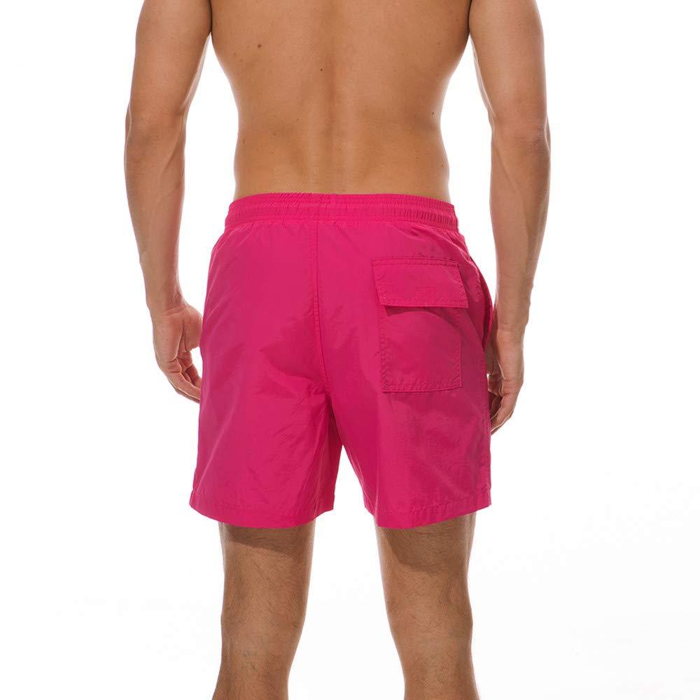 Bestow Pantalones Casuales de Color sólido para Hombres Traje de baño Deportes de Surf Tallas Grandes Pantalones Cortos de Playa Troncos Pantalones de ...
