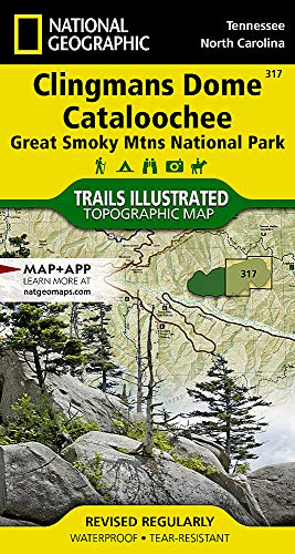 Clingmans Dome - Clingmans Dome, Cataloochee: Great Smoky Mountains National Park (National Geographic Trails Illustrated Map)
