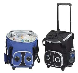Rolling Speaker Picnic Cooler Bag-Blue