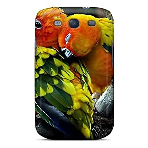 WzvHVOe2185mEBRN AngelineMS Awesome Case Cover Compatible With Galaxy S3 - Cute Parrots