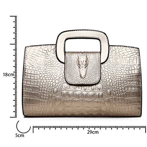 Crocodile PU Shoulder Mini Handbags Women's Bag Messenger Tote Bag Top Tisdaini Fashion Golden Bag gnwApYqIq