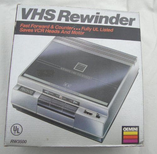 Gemini VHS Tape Rewinder by Gemini Industries, Inc.