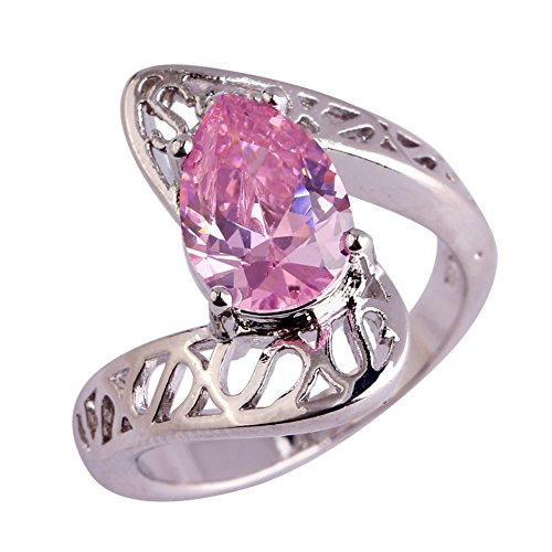[PSRINGS Fashion pink Created Sapphire 925 Silver Ring Design Jewelry Engage t 8.0] (Ninja Turtle Nose Costume)