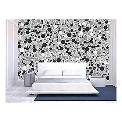 Abstract Seamless Pattern Small Gray Circles Texture Background - Removable Wall Mural | Self-Adhesive Large Wallpaper - 100x144 inches