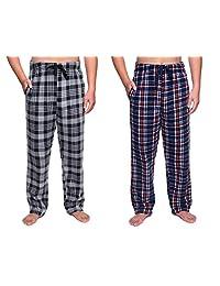 SOVA Men's 2-Pack Ultra Comfy Fit Micro Fleece Pajama Pants (2 pcs Set)