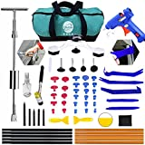 GLST Paintless Dent Repair Puller Kit - Gliston DIY 62pcs Hail Dent and Ding Removal Tools for Automobile Body Motorcycle Refrigerator Washing Machine