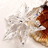 XIANGBAN K9 Crystal Snowflakes Christmas Decorative Gifts, Home Decoration(Year tag Detachable)