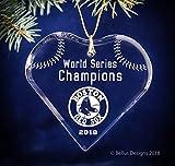 Heart Boston Red Sox Baseball 2018 World Series Champions Keepsake Christmas Ornament