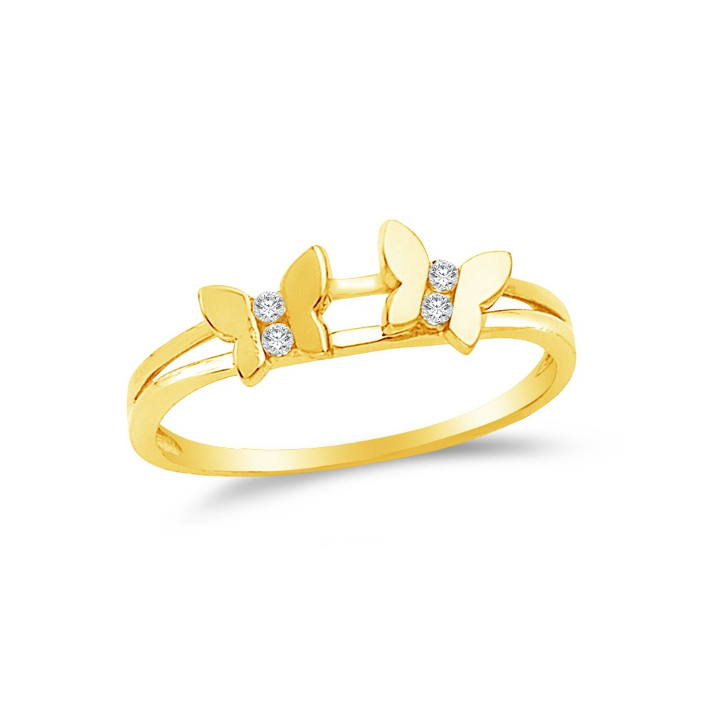 9.5 Size Jewel Tie Solid 14k Yellow Gold Mens Ring