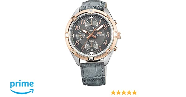 Orient Reloj Analógico para Mujer de Cuarzo con Correa en Cuero FUY04005A0: Amazon.es: Relojes
