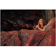 Hansel & Gretel: Witch Hunters 8x10 Photo Pihla Viitala Taking Cover Behind Boulders w/Huge Weapon kn