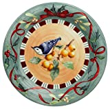 Lenox Winter Greetings Everyday Stoneware Nuthatch Dinner Plate
