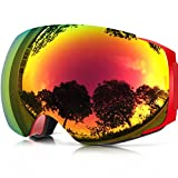 Zionor Lagopus X4 Ski Snowboard Snowmobile Goggles With Magnet Fast Lens Changing System 100% Uv400 Protection Anti-fog Spherical Frameless Goggles For Ski Snowboard | amazon.com