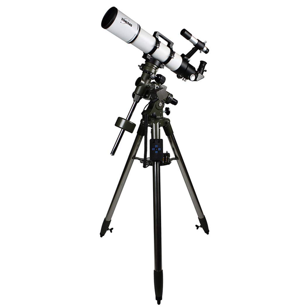 焦点距離600Mm、6 * 30ファインダーミラー、格納式フード、望遠鏡屈折式望遠鏡赤道儀付き天文学用の調整可能なポータブル旅行望遠鏡