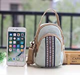 Toniker Canvas Multi-Pockets Small Crossbody Bags