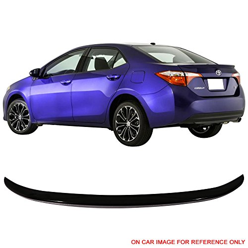 (Pre-Painted Trunk Spoiler Fits 2014-2017 Toyota Corolla | OE Style Painted #209 Black Sand Pearl ABS Rear Spoiler Wing Other Color Available By IKON MOTORSPORTS | 2015 2016)