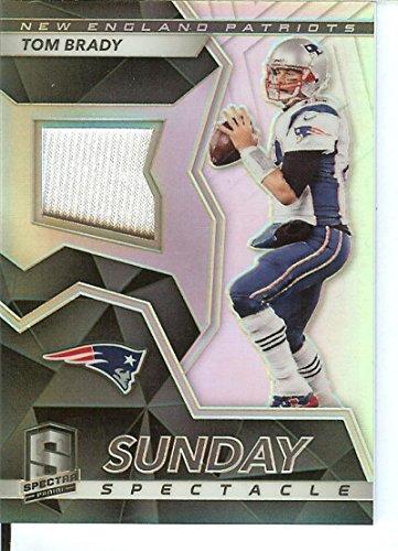 Football NFL 2017 Spectra Sunday Spectacle #49 Tom Brady MEM 44/50 Patriots by spectra