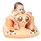 Alian Tiger Shape Inflatable Baby Chair, Portable Kids Sofa Safety Training Seat for Playing Bathing Floor Beach Poolside, Indoor and Outdoor Use