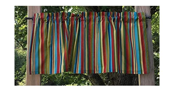 Jungle Babies Rainbow Stripe Handcrafted Valance t5//32