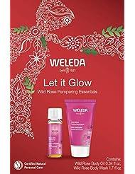 Weleda Let It Glow Wild Rose Pampering Essentials, 2Count