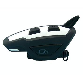 periwinkLuQ - Auriculares inalámbricos Bluetooth para Motocicleta, Casco de Seguridad, Walkie Talkie – Negro