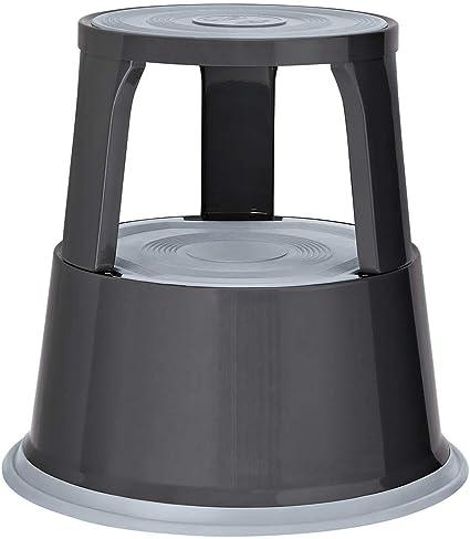 Wedo 212112 Rollhocker Metall, TÜV und GS geprüft, Höhe 43 cm, Tragkraft 150 kg, grau