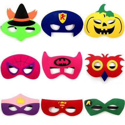 Thematys Kinder Masken Superhelden Maske 9er Set Perfekt Fur