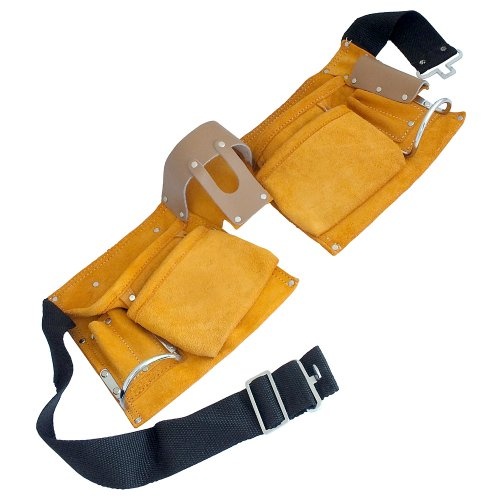 10 Pocket Double Leather Tool Belt by TOOLTIME