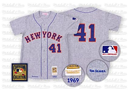wholesale dealer 056ed efada Amazon.com : New York Mets Authentic 1969 Tom Seaver Road ...