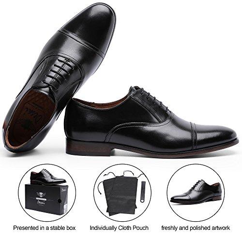 DESAI Men's Leather Dress Shoes Cap Toe Lace-up Oxford (11 M US, Black) by DESAI (Image #7)