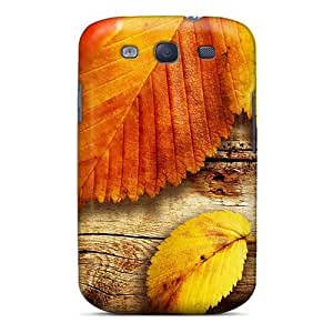 High Quality Shock Absorbing Case For Galaxy S3-nature Seasons Autumn Yellow Leaves
