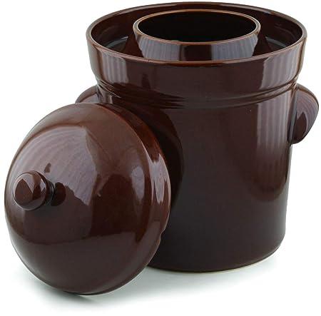 10L - Olla para fermentación (2,6 L), color marrón: Amazon ...