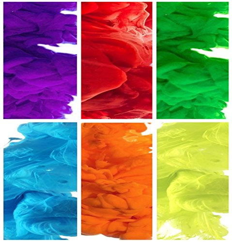 Color Smoke Effect for Photography, Parties, Gender Reveal, Sports - Rainbow Set of All 6 Colors. (EG18 Model: 90-120 Seconds) (6 Colors: Red, Blue, Green, Purple, Orange, - Smoke Flare