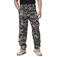 TACVASEN Men's Casual Tactical Military Lightweight Assault Combat Rip-stop Pants