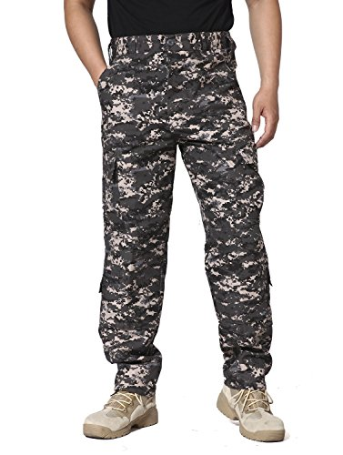 Trouser Uniform (TACVASEN Mens Tactical Military Hiking Hunting BDU Ripstop Combat Uniform Camouflage Trousers)