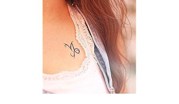 Tatuaje Temporal de Capricornio Signo Horóscopo (2 Piezas) - www ...
