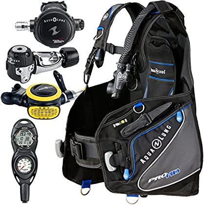 Image of Aqua Lung Pro HD BCD i300C Dive Computer Titan / ABS Regulator Set