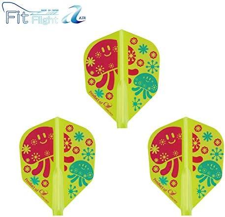 COSMO DARTS Fit Flight【AIR】 × 山崎法美 シェイプ ライトグリーン 山崎法美選手モデル ダーツ フライト