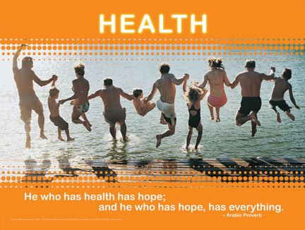 Health And Happiness Motivational Inspirational Poster Series   6 In Set  Laminated  Includes  Exercise  Happiness  Habits  Determination  Health  Joy