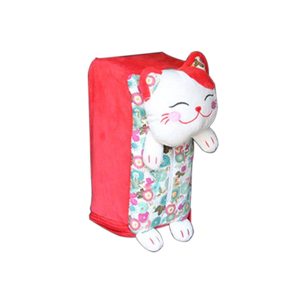zum Aufh/ängen von Taschent/üchern s/ü/ße Gl/ückskatze f/ürs Auto Einheitsgr/ö/ße Rose rechteckig Plastik Walkretynbe Taschentuchbox