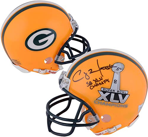 Mini Champs Helmet Riddell (Clay Matthews Green Bay Packers Autographed Riddell Super Bowl XLV Mini Helmet with