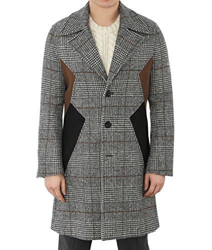 wiberlux-neil-barrett-mens-check-pattern-long-wool-coat-44-gray