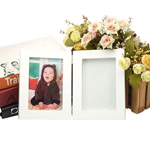 Mogoko Baby Teeth Storage Box and Footprint Picture Frame Kit Wooden Souvenir Bundle Set for Baby Girl by Mogoko (Image #2)