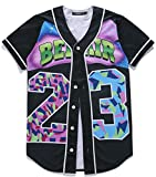 HOP FASHION Youth Baseball Jersey Short Sleeve 3D Print
