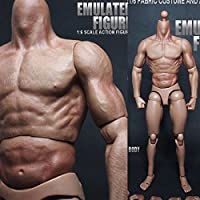 New 1/6 Scale Action Figure Male Nude Muscular Body 12 Plastic Toy for TTM18/19 By KTOY